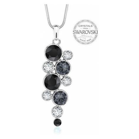 Levien Slušivý náhrdelník Chaton Black mix