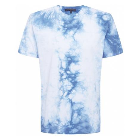 DRYKORN Tričko 'SAMUEL'  modrá / biela