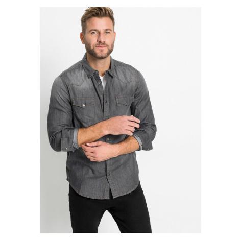 Džínsová košeľa Slim Fit, dlhý rukáv bonprix