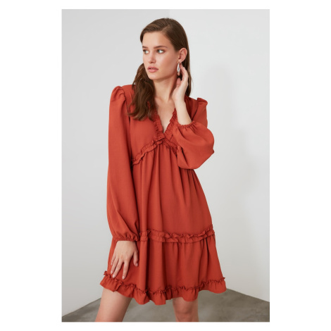 Trendyol Tile Ruffle Dress