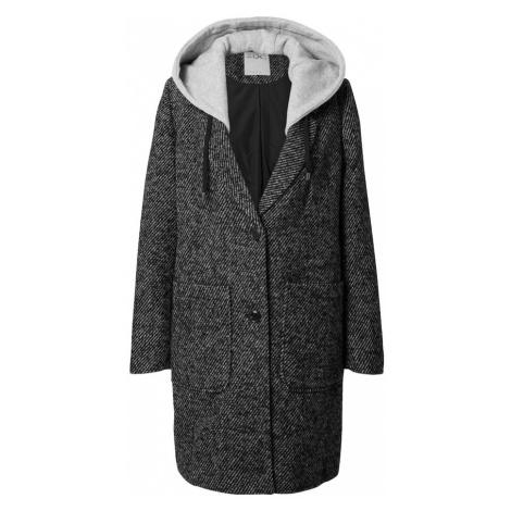 EDC BY ESPRIT Prechodný kabát  čierna / sivá