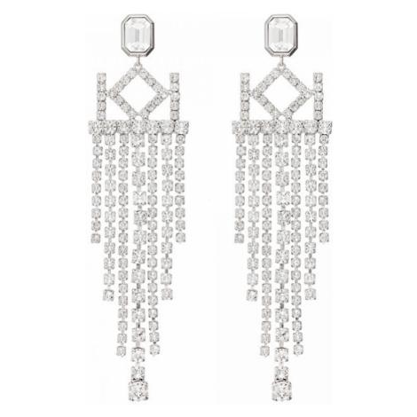 Karl Lagerfeld Luxusné náušnice s kryštálmi Chain Chendelier