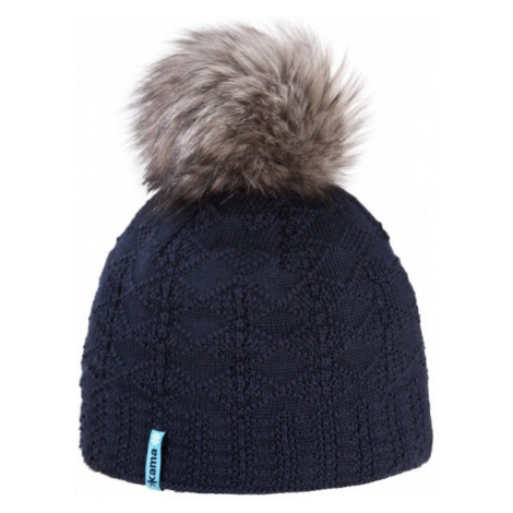 Kama ČIAPKA MERINO BRMOLEC tmavo modrá - Zimná čiapka