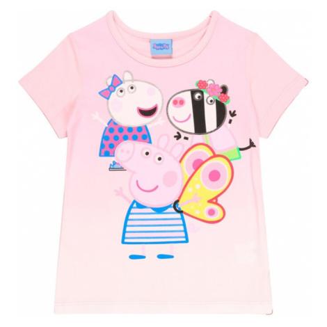 Peppa Pig Tričko  ružová / kráľovská modrá / žltá / čierna
