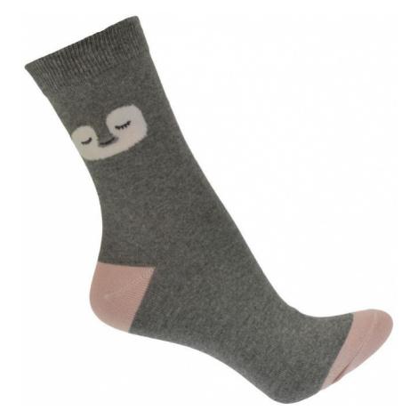Letné tmavo-sivé ponožky ANIMA