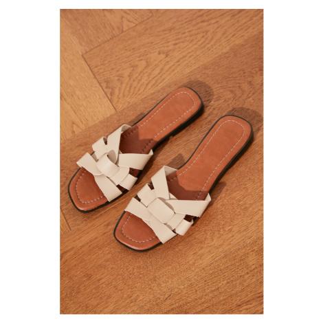 Dámske sandále Trendyol Leather