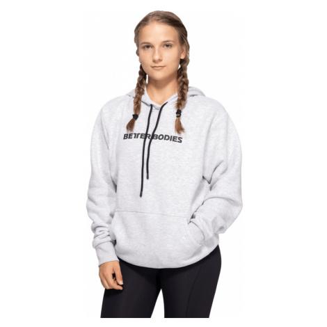 Better Bodies Hoodie Logo Light Grey Melange  L