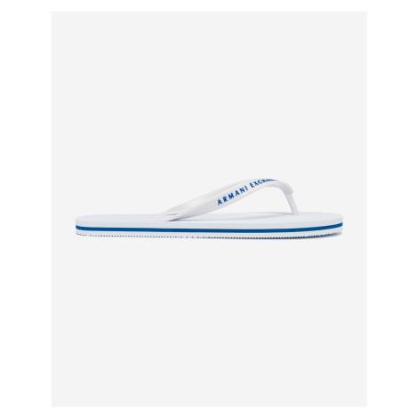 Sandále, papuče pre mužov Armani Exchange - biela