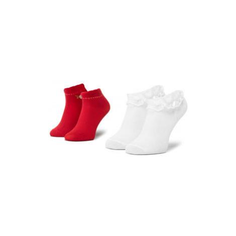Mayoral Súprava 2 párov vysokých detských ponožiek 10738 Červená