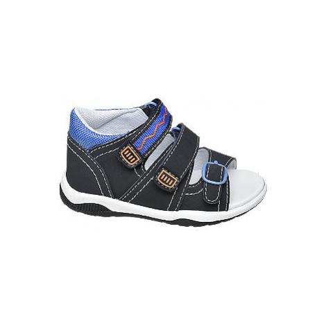 Tmavomodré detské sandále Bobbi Shoes na suchý zips Bobbi-Shoes