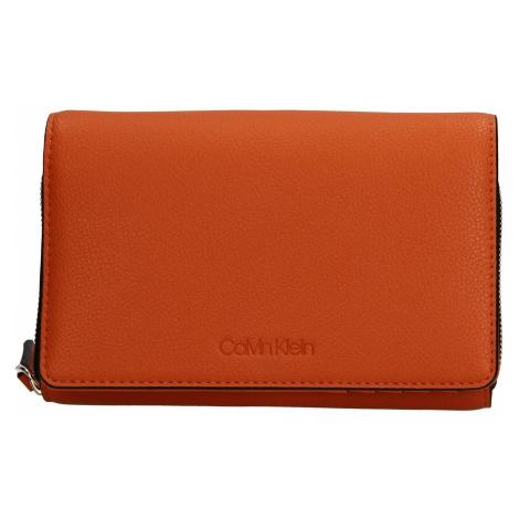 Dámska peňaženka-kabelka Calvin Klein Minies - oranžová