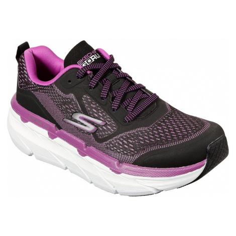 Skechers čierno-ružové tenisky na platforme Max Cushioning Premier
