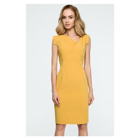 Žlté šaty S121