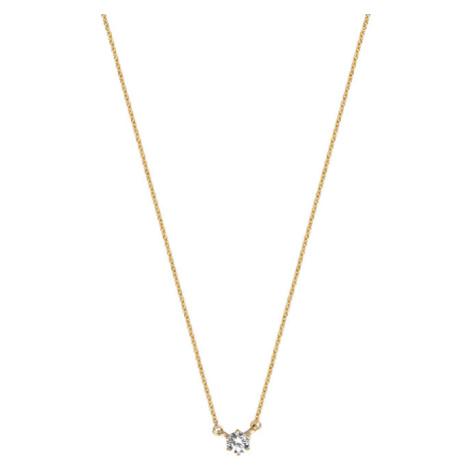 Esprit Trblietavý pozlátený náhrdelník zo striebra s čírym zirkónom ESNL01251242