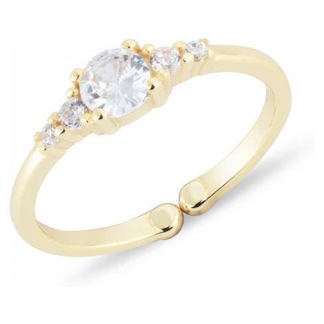 OLIVIE Detský strieborný prsteň ZLATÍČKO nastaviteľný 4722