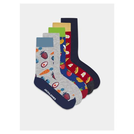 Sada piatich párov ponožiek s motívom Jack & Jones Banana