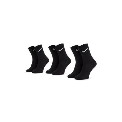 NIKE Súprava 3 párov vysokých ponožiek unisex SX7676 010 Čierna