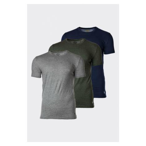 Polo Ralph Lauren 3-balenie pánskych tričiek - sivá, khaki, modrá