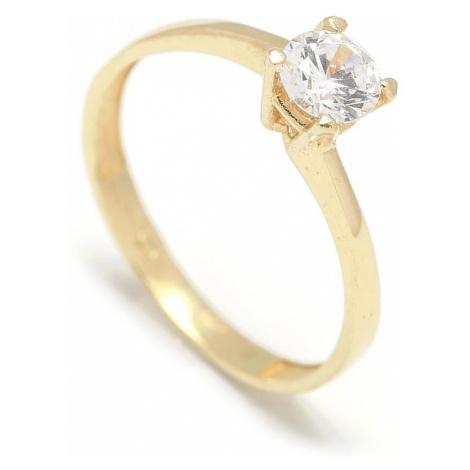 Zlatý zásnubný prsteň CLOVER