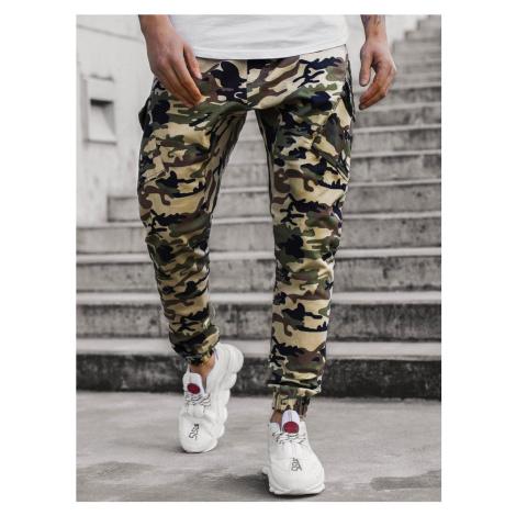 Maskáčovo-béžové trendy joggery A/0853