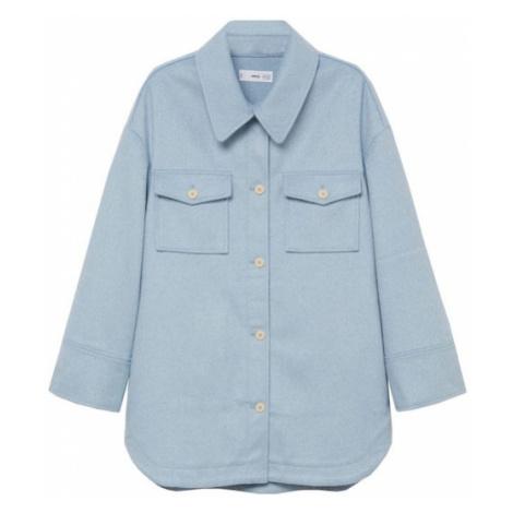 MANGO Prechodná bunda  pastelovo modrá