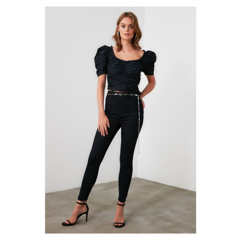 Trendyol Navy High Waist Jegging Jeans