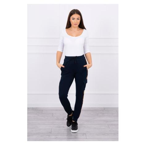 Pants cargo navy-blue