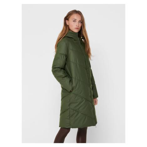 Zelený zimný prešívaný kabát Jacqueline de Yong