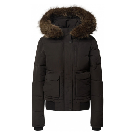 Superdry Zimná bunda  čierna