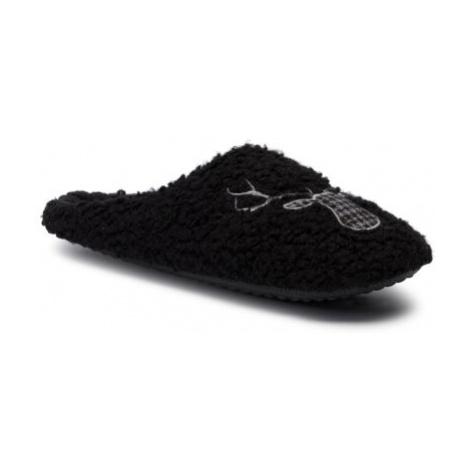 čierna pánska domáca obuv
