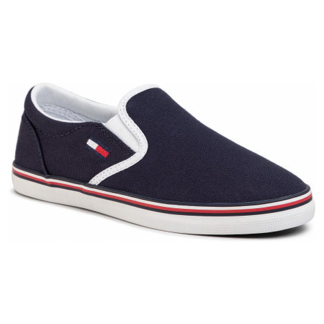 Tenisky TOMMY JEANS - Essential Slip On Sneaker EN0EN00782 Twilight Navy C87 Tommy Hilfiger