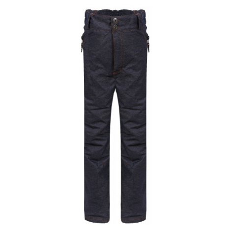 ALPINE PRO GAMO tmavo šedá - Detské nohavice