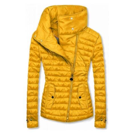 Žltá prešívaná jarná bunda