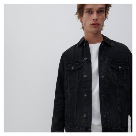 Sivé pánske džínsové bundy