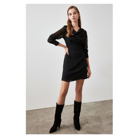 Trendyol Black Collar Detailed Dress