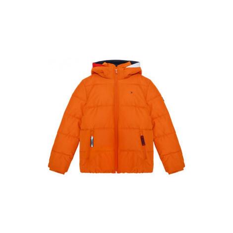 Tommy Hilfiger Vatovaná bunda Essential Padded KB0KB05982 D Oranžová Regular Fit