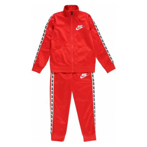 Nike Sportswear Joggingová súprava  červená / biela / čierna