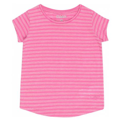 CMP Funkčné tričko  ružová / biela