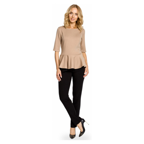Made Of Emotion Woman's Top M007 Cappuccino