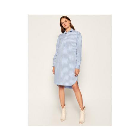 Polo Ralph Lauren Košeľové šaty 211797756001 Modrá Regular Fit