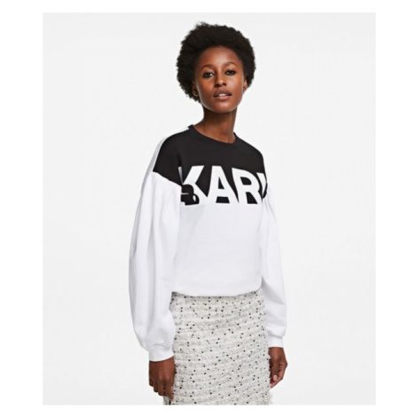 Mikina Karl Lagerfeld Puffy Sleeve Logo Sweatshirt