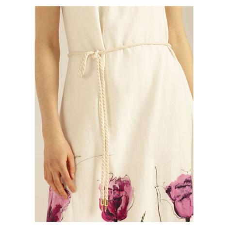 Dámske ľanové šaty v maxi dĺžke Pietro Filipi