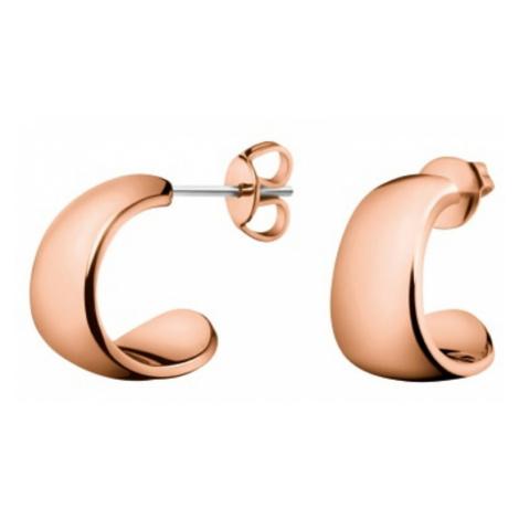 Calvin Klein Bronzové oceľové náušnice Informal KJ6GPE100100