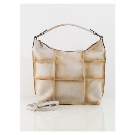 Svetlobéžová kabelka v patchwork štýle