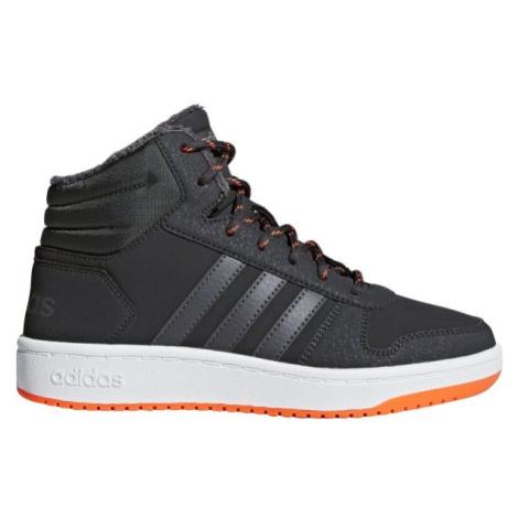 adidas HOOPS MID 2.0 K sivá - Detská voľnočasová obuv
