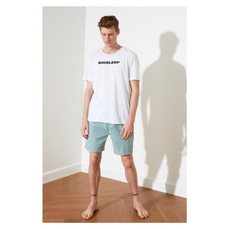Trendyol Green Plaid Woven Pajama Set