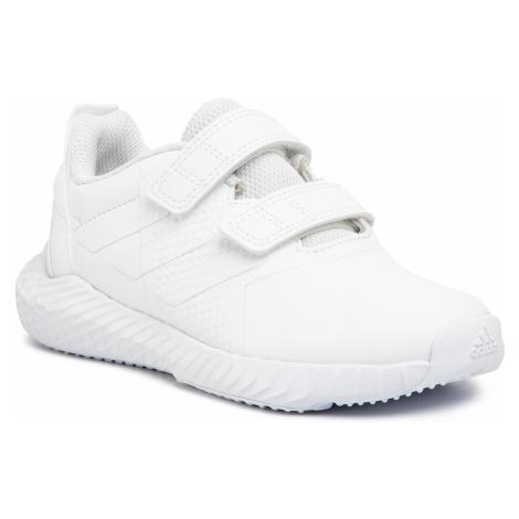Topánky adidas - FortaGym Cf K G27204 Ftwwht/Ftwwht/Greone