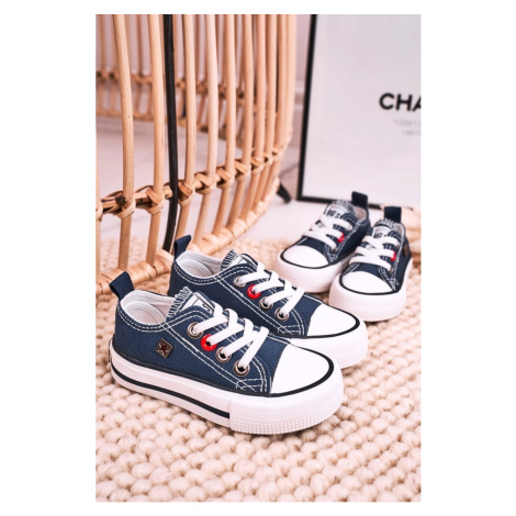 Children's Classic Low Sneakers BIG STAR HH374091 Navy Blue