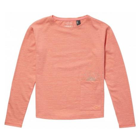 O'Neill LG RISE SURF L/SLV T-SHIRT oranžová - Dievčenské tričko s dlhým rukávom