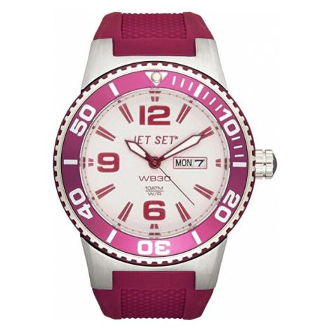 Jet Set Analogové hodinky WB30 J55454-07 s vodotěsností ATM